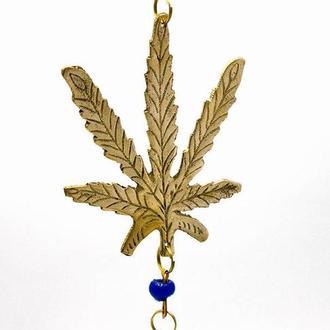 Колокольчик бронзовый Конопляный лист