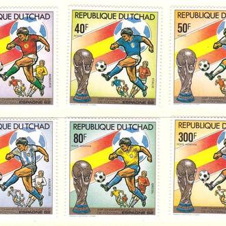 Футбол. Чад 1982 г MNH -