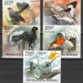 Бурунди 2012 ** Фауна Птицы Экология серия MNH