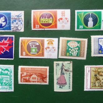 марки- с 1 гр Болгария--(А3) -  гашеные -11марок 1979г и