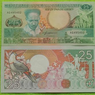 Суринам  25 гульден 1988 UNC
