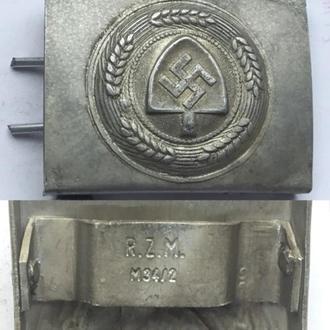 Пряжка Имперской Трудовой Службы (RAD). копия. / алюминий .