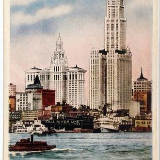 Открытка почтовая карточка Мьюнисипэл Билдинг 1940-е гг. США Fv8.4