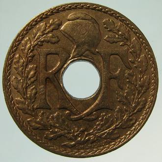 Франция 10 сантимов 1936 Медно-никелевый сплав
