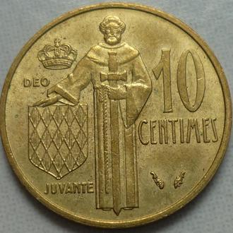 Монако 10 сентимов 1979 состояние