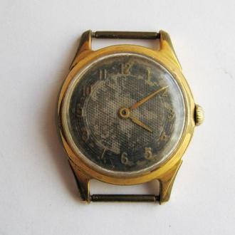 МУЖСКИЕ позолоченные часы = механика = СССР = AU