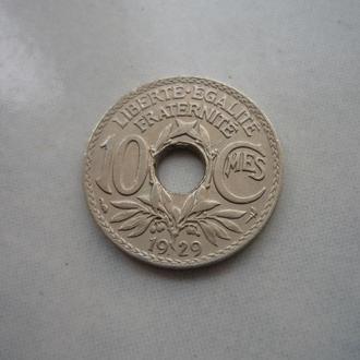 Франция 10 сантимов 1929