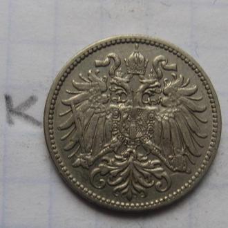 АВСТРО-ВЕНГРИЯ 10 филлеров 1910 года.