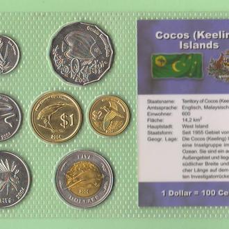 Набор КОКОСОВЫЕ ОСТРОВА Cocos (Keeling) Islands набір Кокосові острови блистер запайка пластик RAR