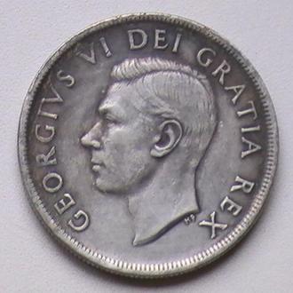 1 Доллар 1948 г Серебрение Канада Патина копия 1 Долар 1948 р Посріблення Канада