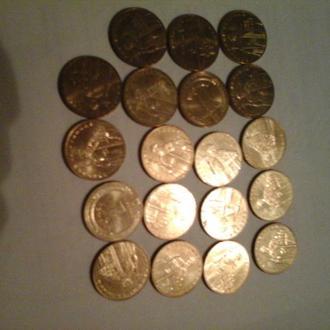 2012 год 19 монет по 1 гривне