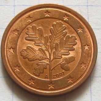 Германия_ 2 евро цента 2007 А оригинал