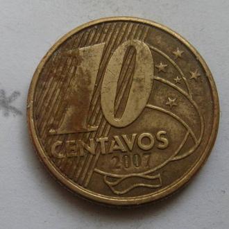 10 сентаво 2007 г. БРАЗИЛИЯ.
