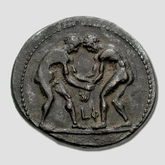 (А)1361 - ПАМФИЛИЯ. Аспенд (380—325 до н.э.) AR Статер