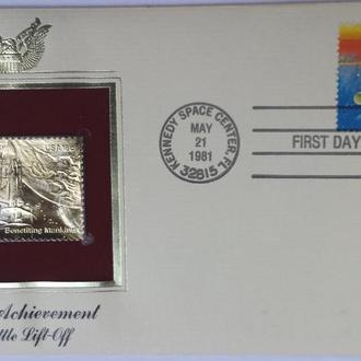 конверт первого дня США-достиженияя в Космосе