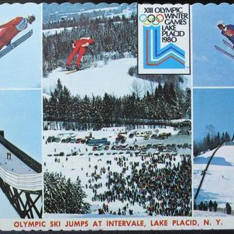 ПК 2 открытки Спорт Олимпиада 1980 год США