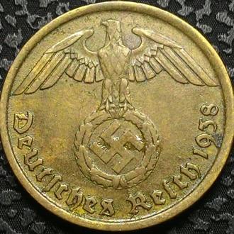 Германия 10 пфеннигов 1938 год СВАСТИКА!!