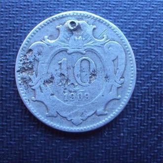 Австро-Венгрия 10 филлеров 1909г.
