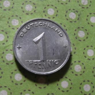 Германия 1950 год монета 1 пфенниг А !