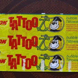 вкладыш  обертка от жевательной резинки TATTOO OK