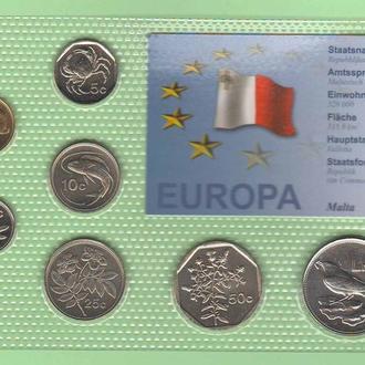 Набор монет МАЛЬТА блистер запайка пластик
