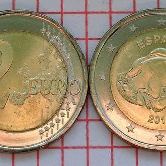 Испания 2 евро, 2015 ЮНЕСКО - Пещера Альтамира