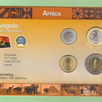 Набор монет АНГОЛА ANGOLA пластик блистер запайка  RRR
