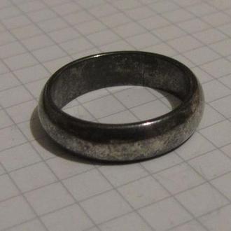 Обручальное кольцо белое (клеймо) + бонус (брошечка)