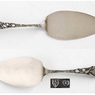 Лопатка для торта Rose №2, серебро 90, Германия