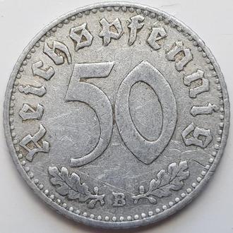 Германия 50 пфенниг 1940 B год СВАСТИКА!!!!