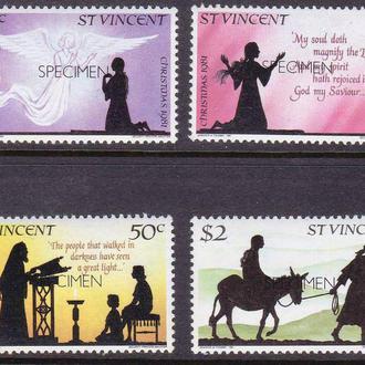 GB Ст. Винсент  1981 г MNH - Рождество - SPECIMEN -