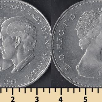 Великобритания 25 пенсов 1981