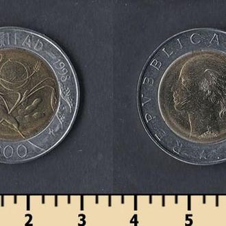 Италия 500 лир 1998