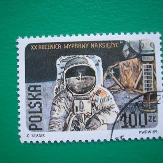 Польша 1989  Космос *