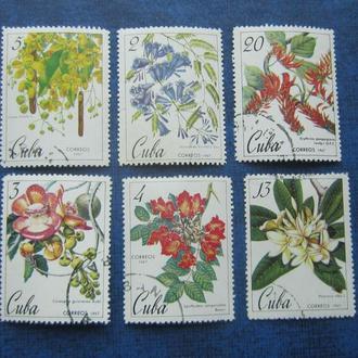 6 марок Куба 1967 флора цветы гаш