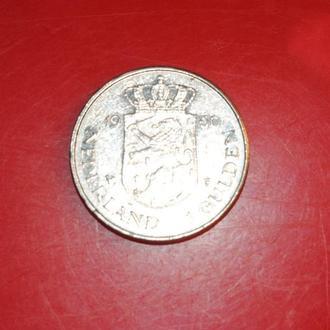1 гульден 1980 г Нидерланды юбилейная