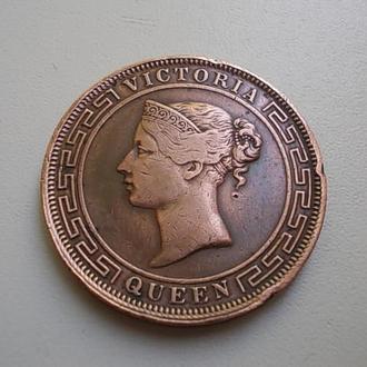 5 центов 1870 Британский Цейлон