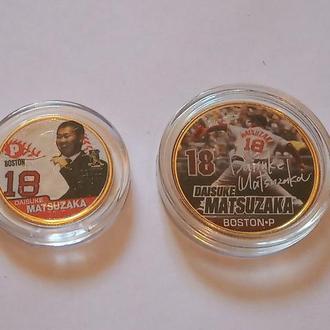Набор Цветных Позолоченных Монет Boston Red Sox