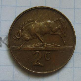 ЮАР 2 цента 1981 года (АНТИЛОПА).