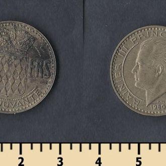 Монако 20 франков 1950