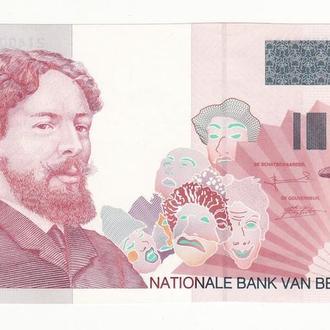 Бельгия 100 франков 1995 2001 UNC последние выпуски