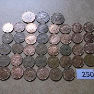 1 пенни  Великобритания погодовка №250