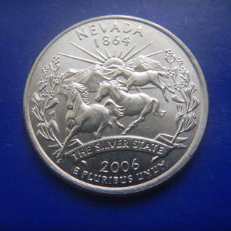 США 25 центов Невада D 2006 (RL201)