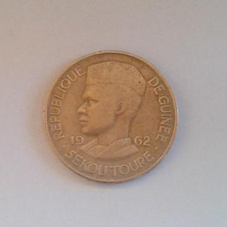 РЕСПУБЛИКА ГВИНЕЯ, 10 ФРАНКОВ,1962 г.