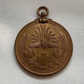 Медаль японского красного креста за Русско-Японскую войну 1904 год.Супер.