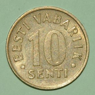 (А) Эстония 10 сентов, 1991