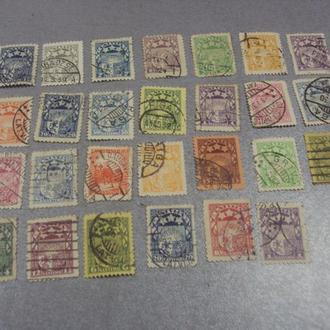 марки латвия стандарт 1931 лот 27 шт №104