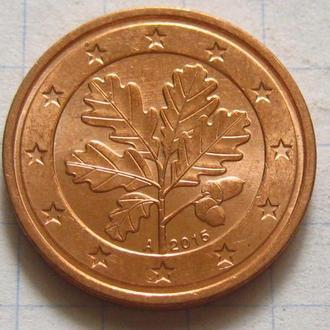 Германия_ 2 евро цента 2015 А оригинал
