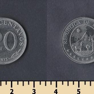 Боливия 20 сентаво 1973