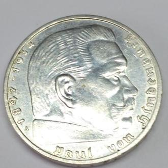 2 марки, 1939, A, третий рейх, Unc, штемпельная, люкс! Вес 8.07.